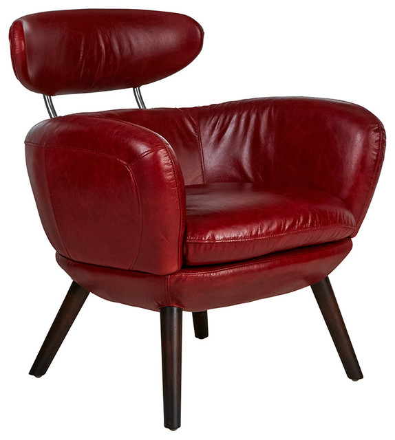 Carnaby Armchair In Royal Rouge Midcentury Armchairs And Accent Chairs