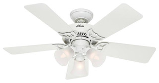 Hunter Fan 51010 Dual Mount Ceiling Fan 42 White Beach Style Ceiling Fans By Life And Home