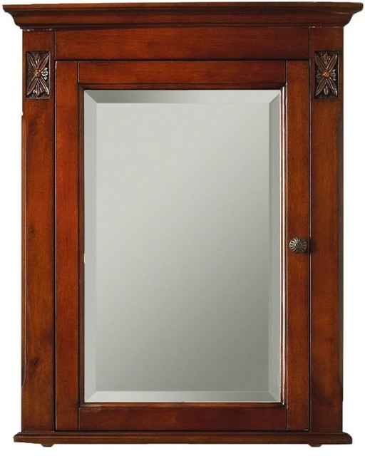 Marseille Corner Mirror Cabinet 27 Hx22 W Brown