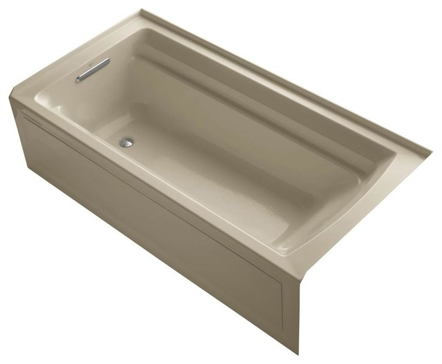 Archer VibrAcoustic 6 ft. Left Drain Soaking Tub in Mexican Sand ...