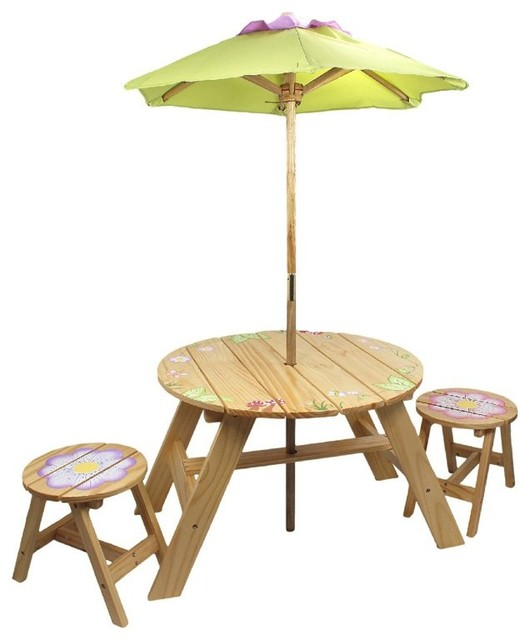 Fantasy Fields Magic Garden Outdoor Table and 2 Chairs Set