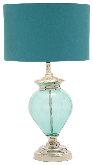 Traditional style the cool glass chrome table lamp home for Cool bedside table lamps