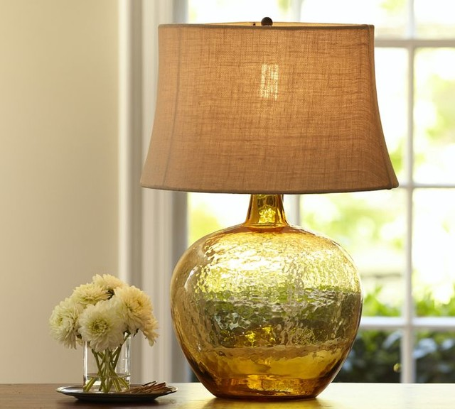 clift glass table lamp base amber contemporary lamp bases by. Black Bedroom Furniture Sets. Home Design Ideas