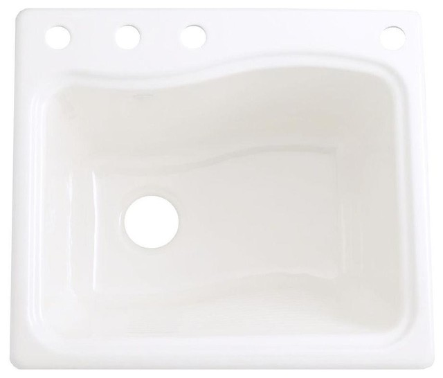 Undermount Utility Sink White : ... Undermount Cast Iron 4-hole White Utility Sink contemporary-utility