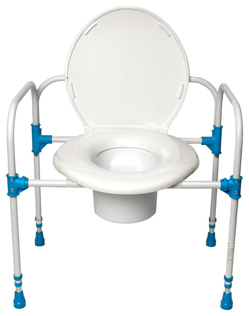 Big john bariatric commode chair traditional toilet for Bariatric bathroom design