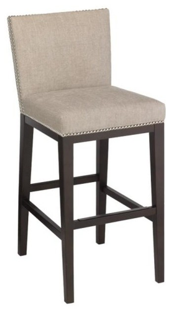 Counter Height Nailhead Chairs : ... With Nailhead, Bar Height contemporary-bar-stools-and-counter-stools
