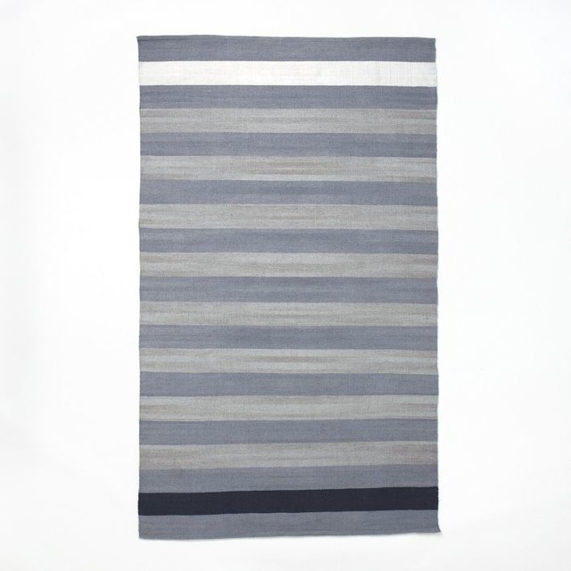 Rayas Outdoor Kilim Modern Outdoor Rugs by West Elm