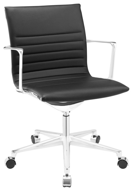 vi mid back office chair in black modern office chairs by lexmod