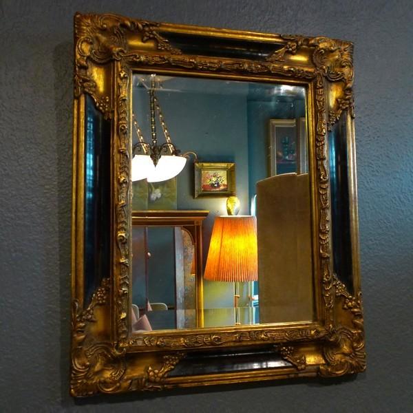 vintage vergoldeter spiegel 1970er bauhaus look von. Black Bedroom Furniture Sets. Home Design Ideas