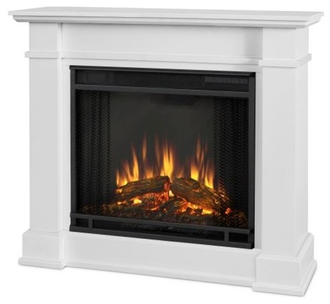 devin indoor electric fireplace white transitional