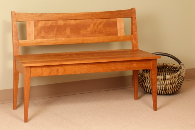 Shaker Bench With Low Back Traditional Indoor Benches Seattle By Mckinnon Furniture