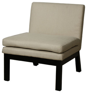 Cosmo Fabric Slipper Chair Sand Set Of 2 Modern Armchairs Accent