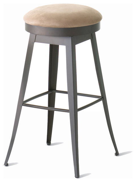 Amisco Grace Backless Swivel Stool 42414 Transitional