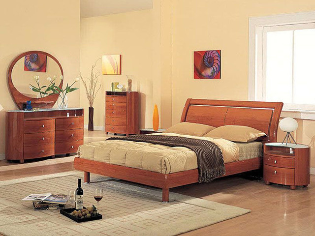 Exclusive Wood Platform Bedroom Sets With Extra Storage Modern Bedroom Fu