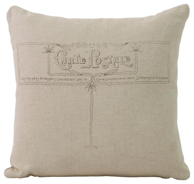 Carte Postale Pillow - Farmhouse - Decorative Pillows - Other - by Zentique, Inc.