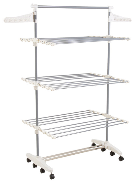Rolling Stainless Steel Drying Rack - Contemporary - Drying Racks - by Trademark Global