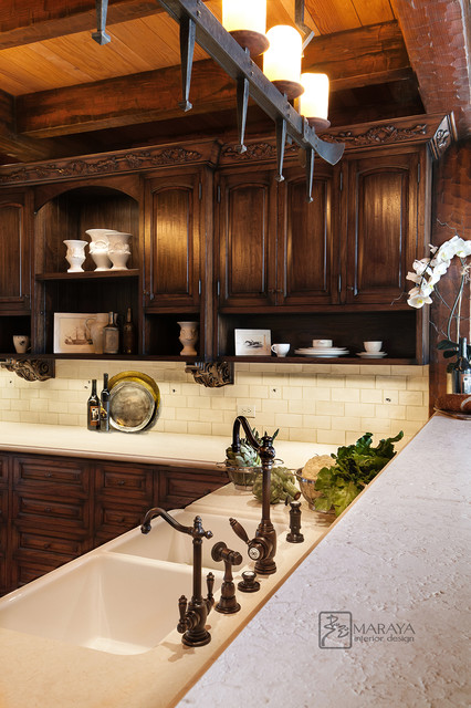 Old French Country Kitchen - Farmhouse - Kitchen - santa barbara - by ...