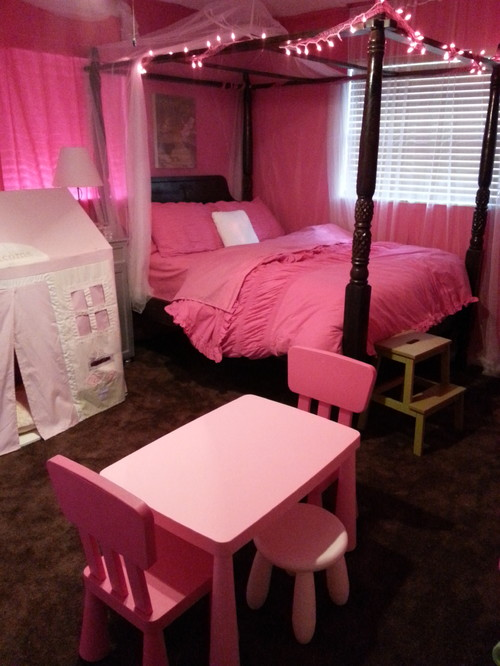 Pink bedroom for our 4 year old for 4 yr old bedroom ideas