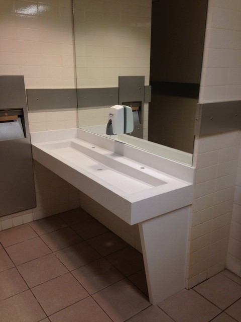 Corian Bathroom Vanity Tops : Corian trough sink
