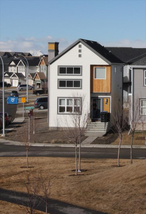 Modern landscape ideas for small corner lot for Modern house design corner lot