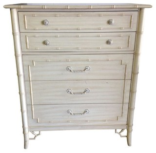 Faux Bamboo Chest Of Drawers By Thomasville Modern Chests Of Drawers By Chairish