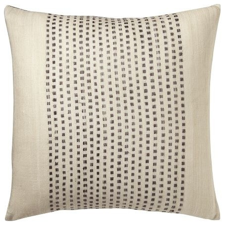 Embroidered Dot Pillow Cover ? Slate west elm - Modern - Decorative Pillows - by West Elm