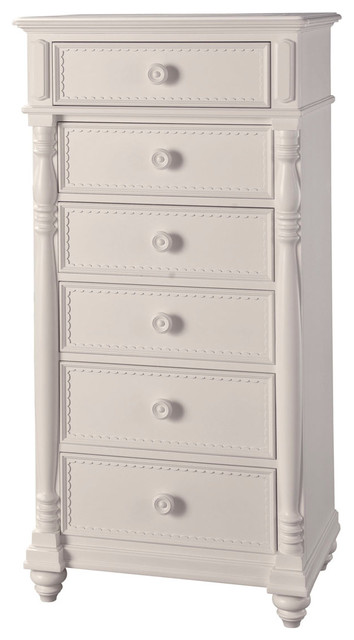 Lea hannah 6 drawer lingerie chest in white traditional for Armoires lingeres