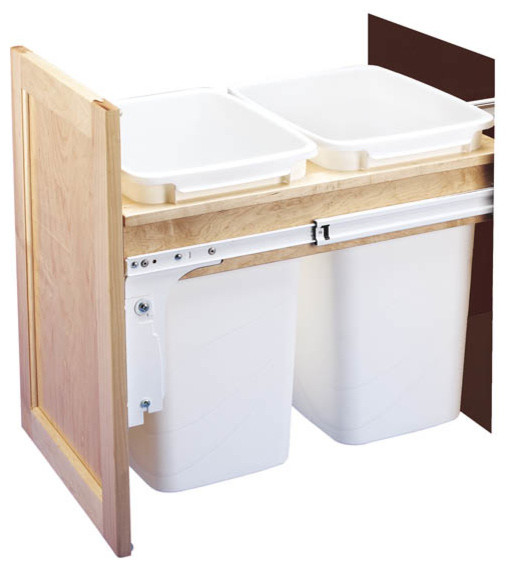 replacement trash can for kitchen cabinet 2
