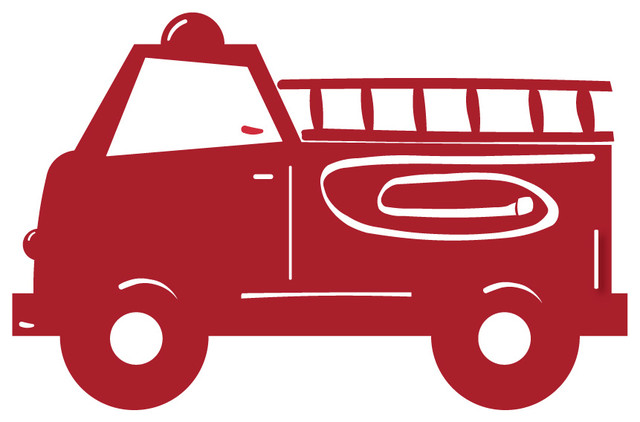 red firetruck wall decal firefighter themed boys room fire truck wall sticker by giftuniverse