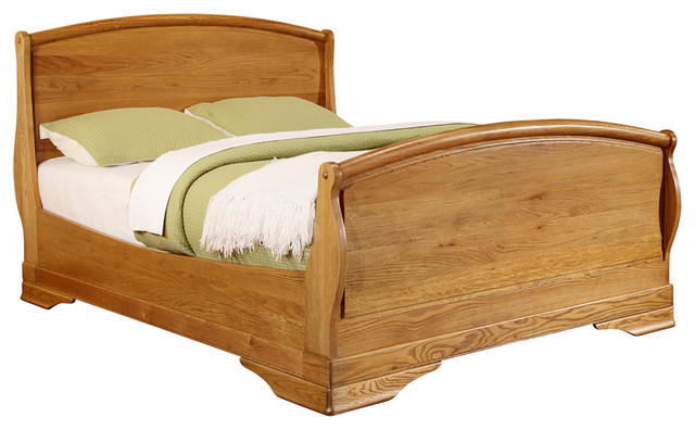 Chateau oak super kingsize bed rustic panel beds for Chateau beds