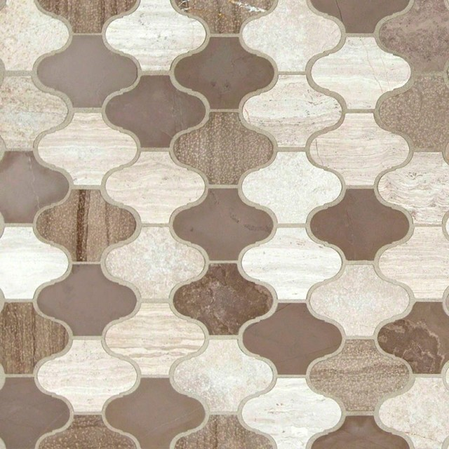 arabesque marble blend tile arctic storm 12x12 m diterran en carrelage mosa que par wall. Black Bedroom Furniture Sets. Home Design Ideas