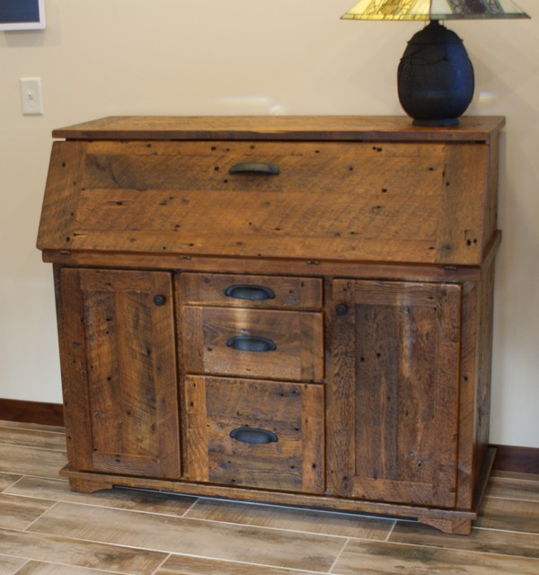 Secretary Desk - Rustic - Desks And Hutches - other metro ...