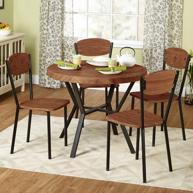 Simple living 5 piece piazza dining set contemporary for Kitchen set simple