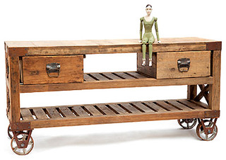 Reclaimed Wood Cart - Eclectic - Kitchen Islands And Kitchen Carts - by Hudson Goods