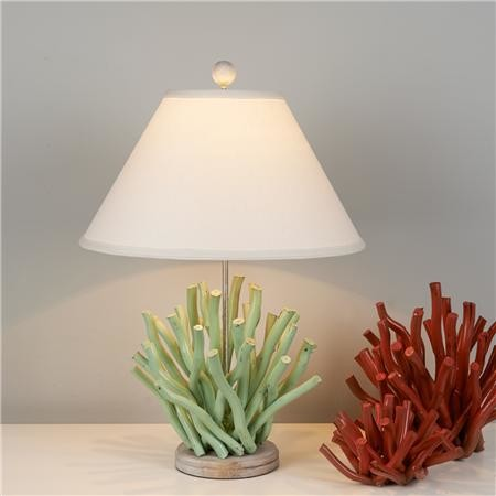 wooden coral branch table lamp mint green contemporary. Black Bedroom Furniture Sets. Home Design Ideas