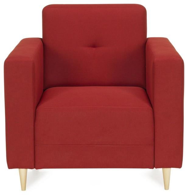 Phill fauteuil design rouge contempor neo sillones y - Sillones contemporaneos ...