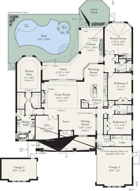 amelia 1124 traditional floor plan tampa by arthur 25 best ideas about traditional japanese house on