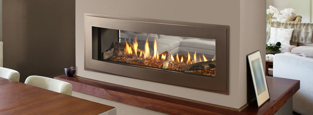 Heatilator Crave See Through Series Gas Fireplace Contemporary Indoor Fireplaces By