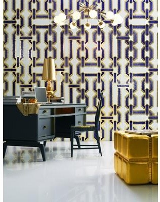 Chains blue glass mosaic glass mosaic decoration from for Bisazza bathroom ideas