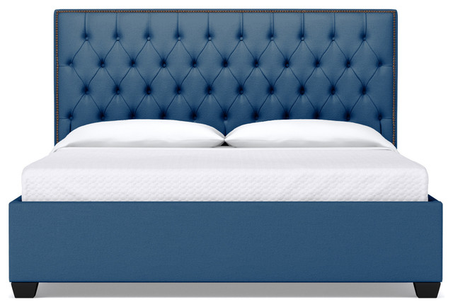 Huntley Drive Upholstered Bed Blueberry Eastern King Contemporary