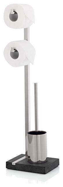 Blomus menoto toilet butler double matte modern toilet paper holders by sks usa for Bathroom butler toilet paper holder