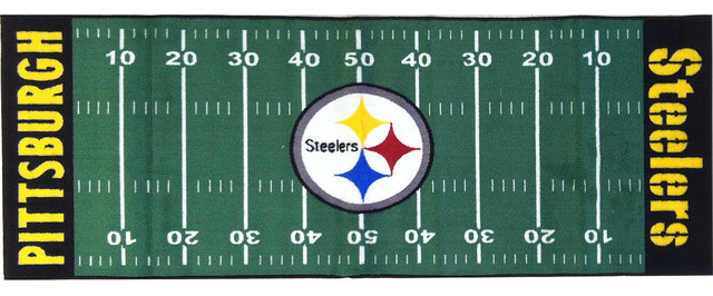 ... Pittsburgh Steelers Nfl Rugs Nfl Pittsburgh Steelers Football Long  Accent Runner Rug Contemporary Hall And Sr ...