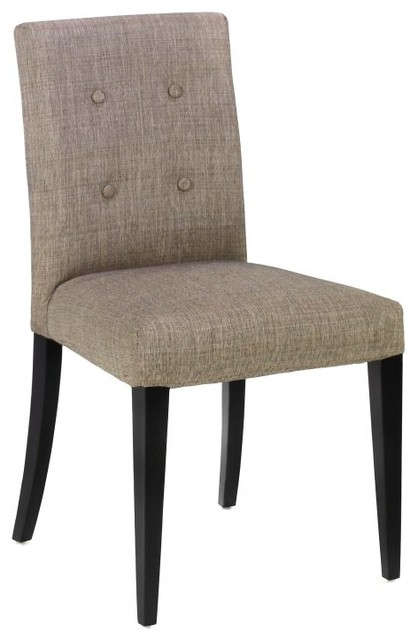 Armen Living Wall Street Fabric Side Chairs Charcoal  : contemporary dining chairs from houzz.co.uk size 418 x 640 jpeg 38kB