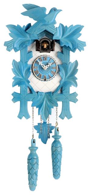 Design Collection Quartz Cuckoo Clock Blue And White