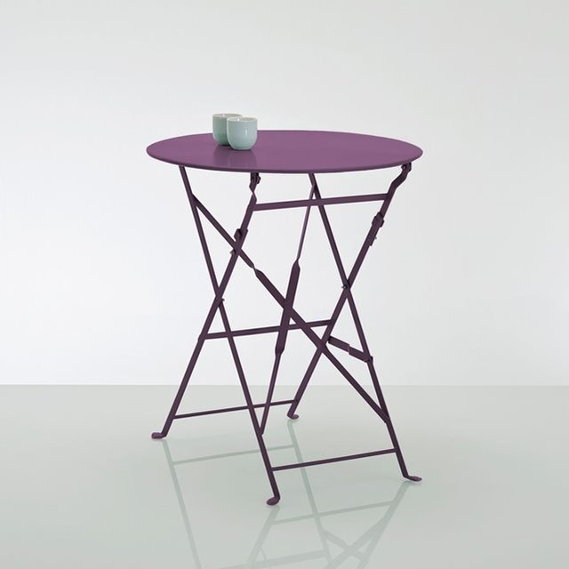 Gu ridon table pliante en m tal contemporain table de for Peinture table de jardin metal