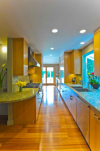 Galley Kitchen Modern Kitchen San Francisco By Bill Fry Construction Wm H Fry Const Co