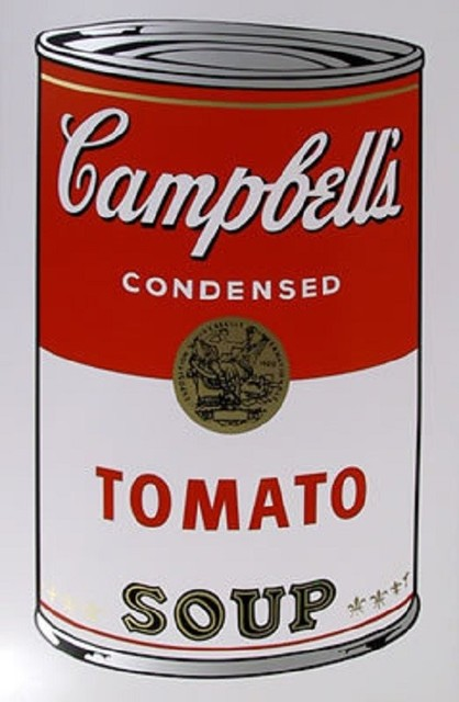 andy warhol campbell s tomato soup can silk screen by sunday b morning contemporary fine. Black Bedroom Furniture Sets. Home Design Ideas