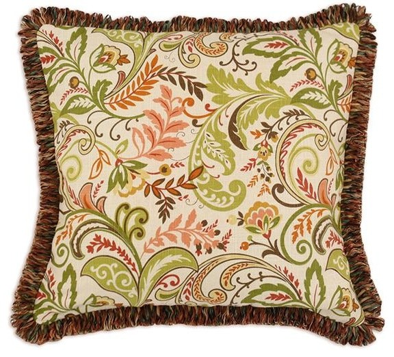 Decorative Throw Pillows With Fringe : Custom Fringed Square Pillow traditional-decorative-pillows