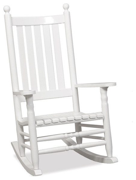 Carolina porch rocker white in white contemporary - Modern white rocking chair ...
