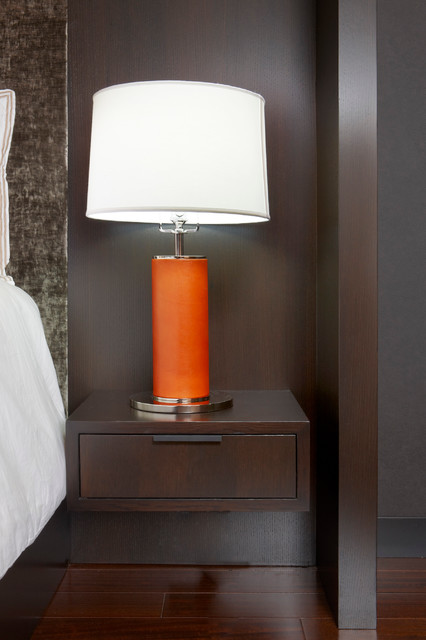 Floating oak nightstand modern nightstands and bedside for Modern bedside tables nightstands